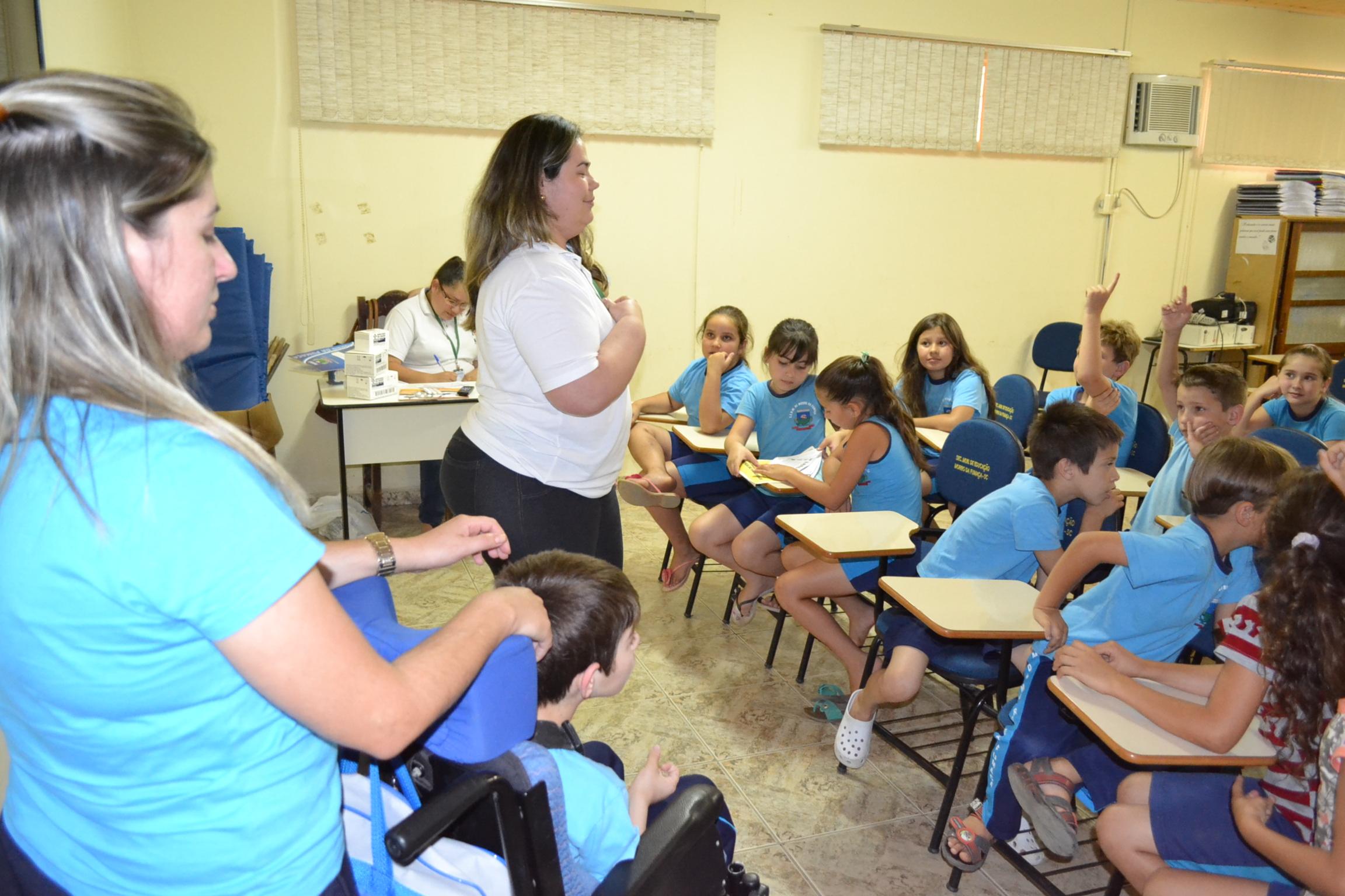 MORRO DA FUMAÇA- Agora foi a vez do Bairro Naspolini realizar a etapa do Programa Saúde Na Escola