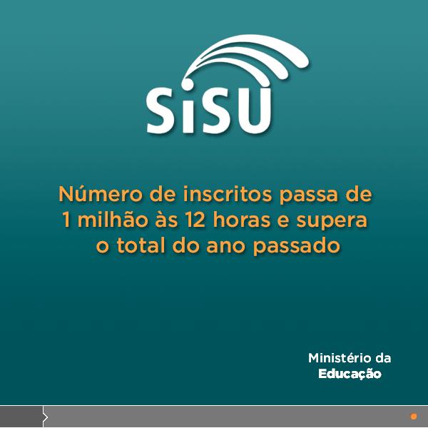 Mais de um milhão de estudantes já se inscreveram no Sisu 2014