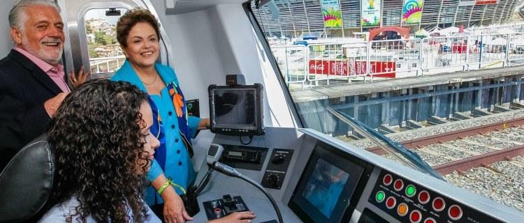 INFRAESTRUTURA – Dilma inaugura metrô de Salvador e destaca investimentos do governo