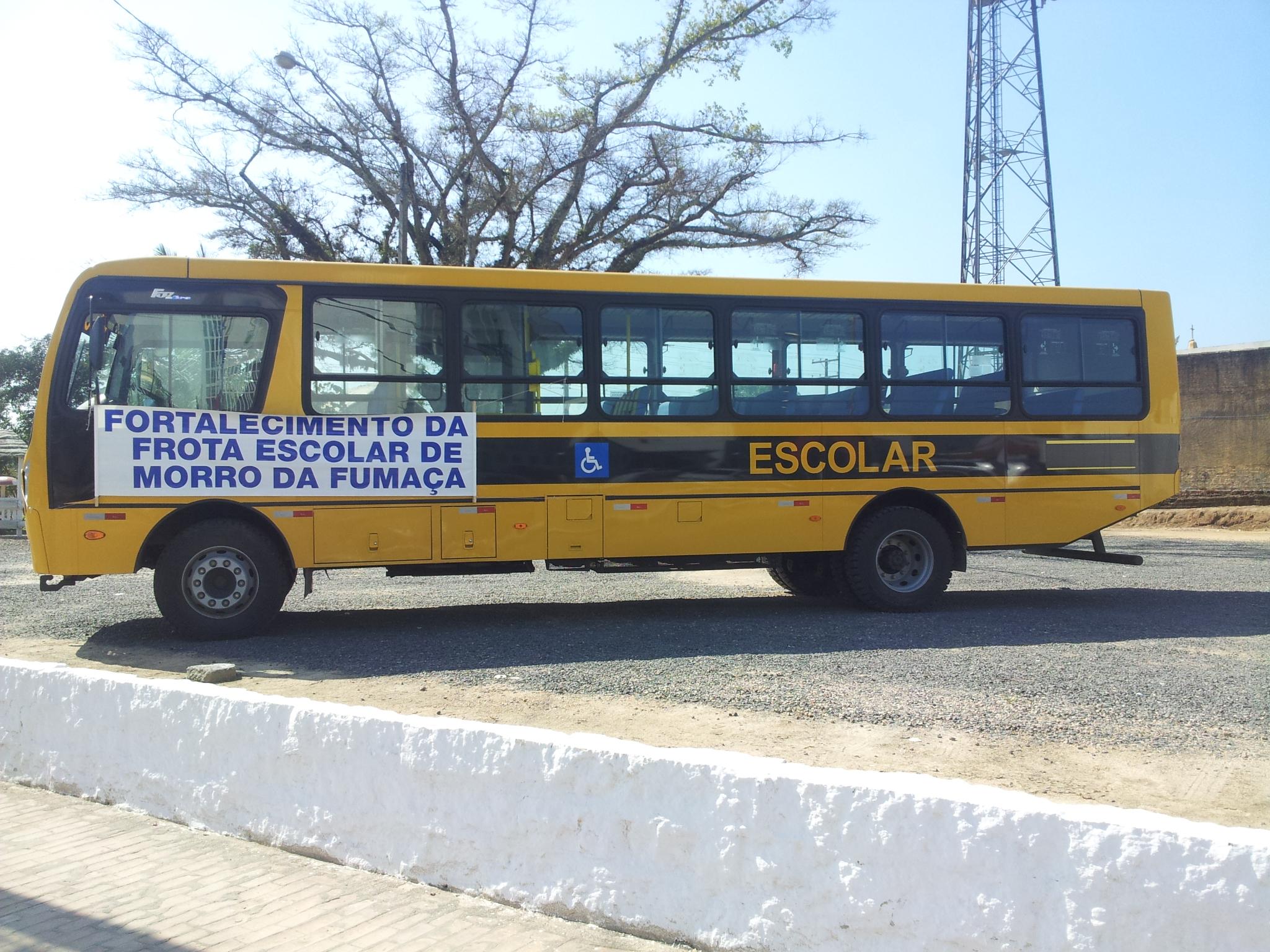 Morro da Fumaça recebe novo ônibus escolar