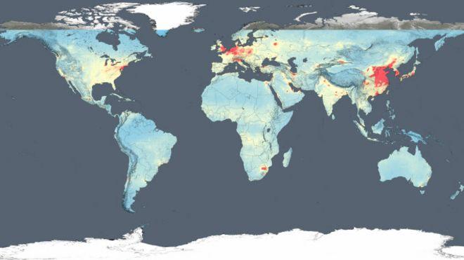 Imagens de satélite da Nasa mostram quais são os países mais poluídos do mundo
