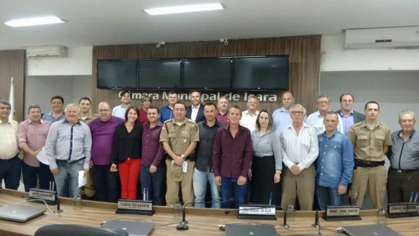 Na Câmara de Içara, vereadores de Morro da Fumaça debatem segurança pública