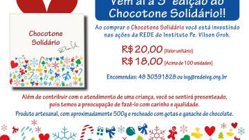"""Instituto Vilson Groh realiza campanha """"Chocotone Solidário"""""""