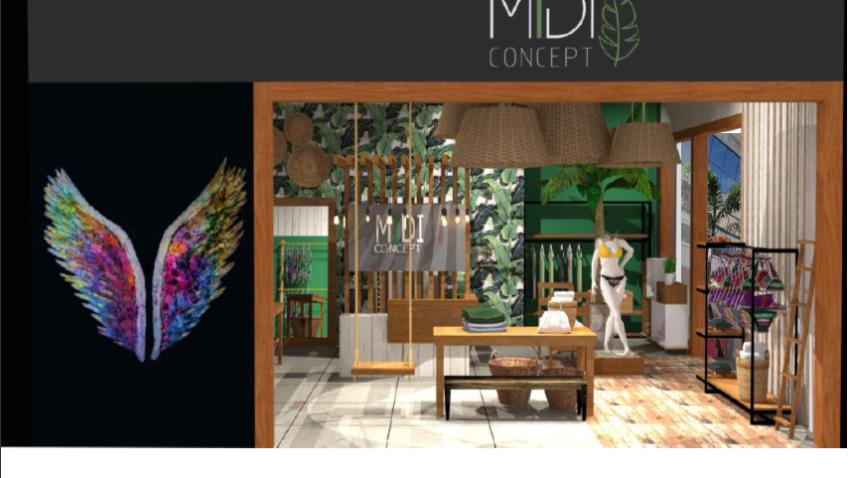 Combinação de natureza e moda no projeto da MIDI Concept