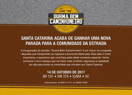 REGIÃO SUL GANHA PARADOR DE CAMINHÕES E CARRETAS