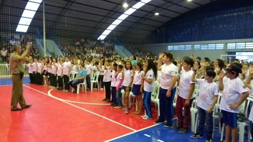 Proerd realiza a formatura de 269 alunos em Morro da Fumaça