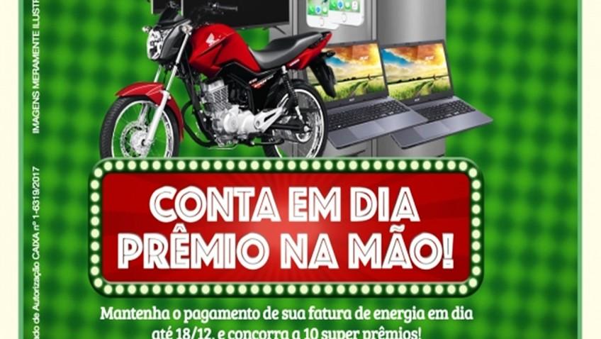 PROMOÇÃO CONTA EM DIA PREMIO NA  MÃO DA CERMOFUL!