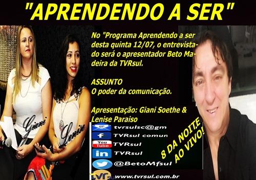 TVRsul vídeo: Programa Aprendendo a Ser (12/07/2018)