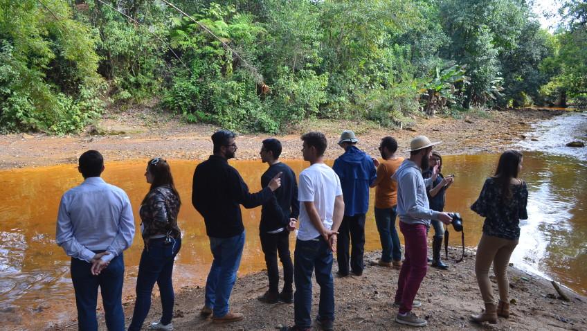 Equipe técnica percorre da nascente a foz da Bacia do Rio Urussanga