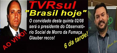 MAIS UMA IMPORTANTE ENTREVISTA QUE VOCÊ NÃO DEVE PERDER AQUI NA TVRsul: www.tvrsul.com.br
