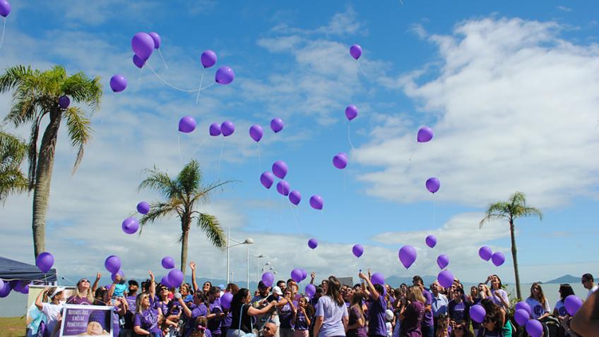 Mais de 100 pessoas participaram da II Caminhada da Prematuridade, em Florianópolis