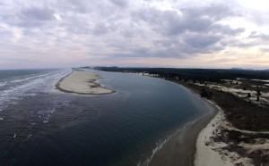 Rio Araranguá e o mar - Crédito - Willians Biehl