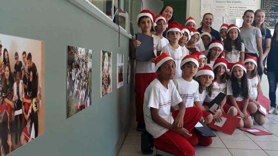 Estudantes abrem programação de Natal no Hospital São Donato