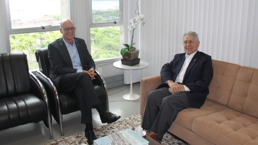 SED recebe vice-presidente da Região Sul da Confederação Nacional da Indústria Glauco José Côrte