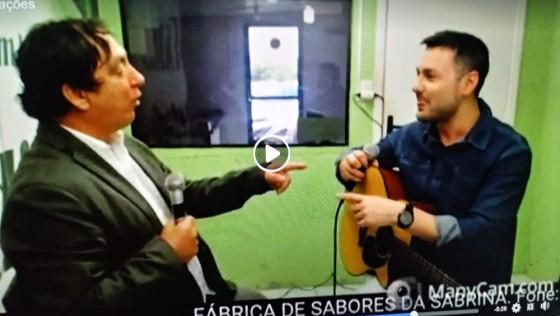 Musico Diego Damásio ao vivo na TVRsul