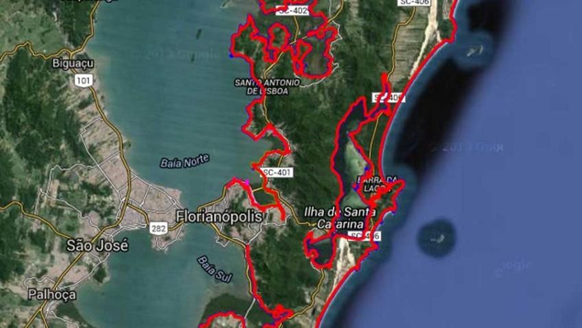 Manifestação na Trindade questiona a demarcação dos terrenos de marinha