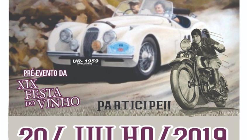 Pré-evento com carros antigos prepara região para Festa do Vinho 2019