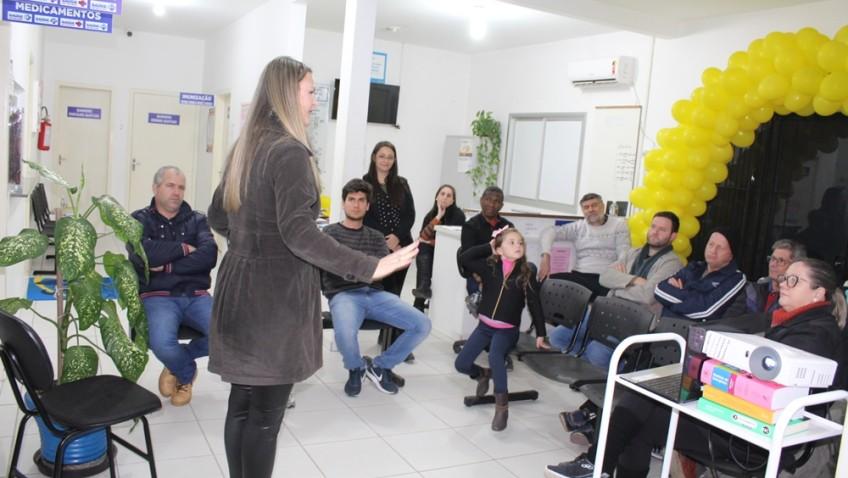Palestra motivacional é realizada em parceria com TVRsul e ESF do Bairro Naspolini em Morro da Fumaça.