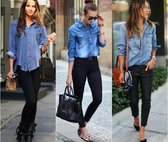 Camisa Jeans feminina: Modos de usar