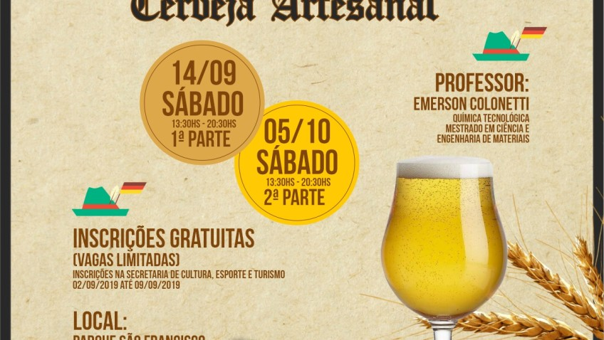 Curso de Produção de Cerveja Artesanal é oferecido aos moradores de Forquilhinha