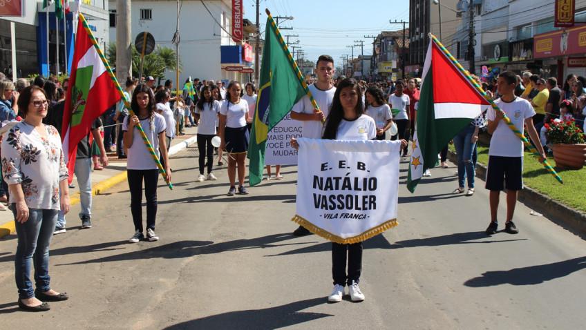 Desfile Cívico vai contar com a participação de mais de 2 mil pessoas em Forquilhinha