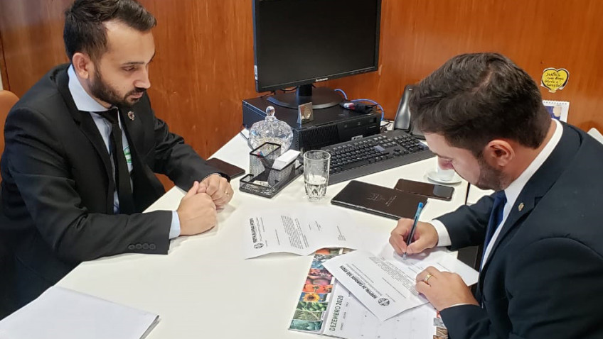 No Governo Federal, Formentin busca recursos para Morro da Fumaça