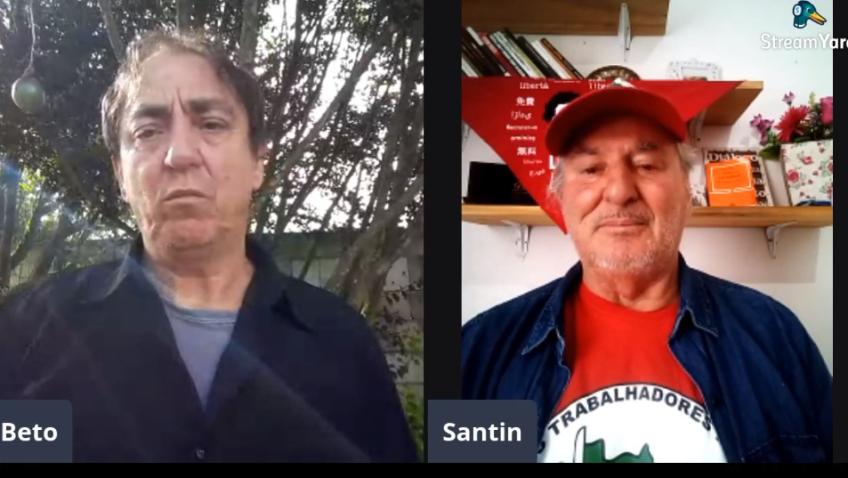 o entrevistado de hoje 01/04, Vilson João Santin, do assentamento Anita Garibaldi, município de ponte alta