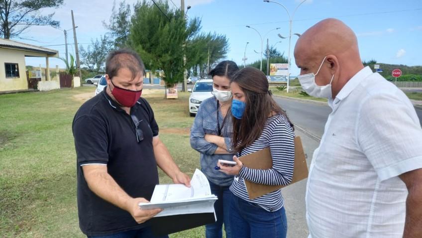 Balneário Rincão recebe visita técnica para análise de projeto da construção da ciclovia