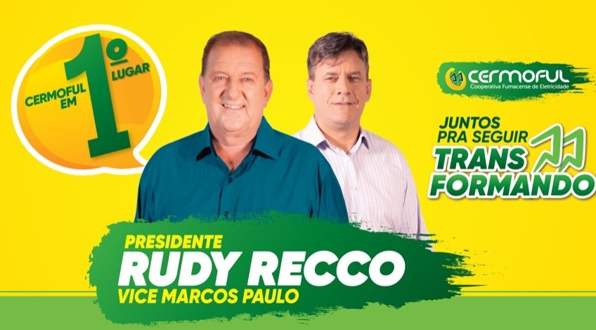 Rudy Recco e Marcos Paulo, são os novos presidente e vice-presidente da cooperativa Cermoful para um mandato de 4 anos.